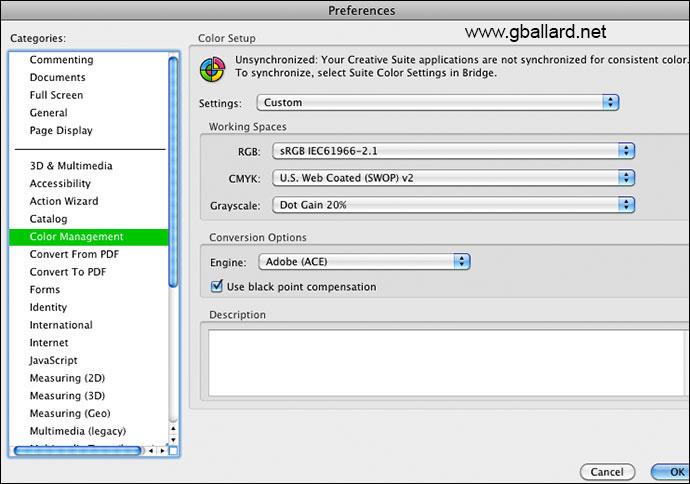PHOTOSHOP PDF BUG Adobe Acrobat Pro Convert Colors Ignoring