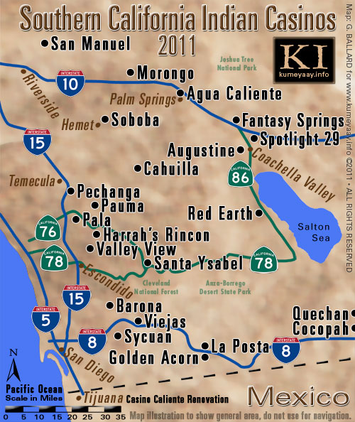 Southern ca casino map