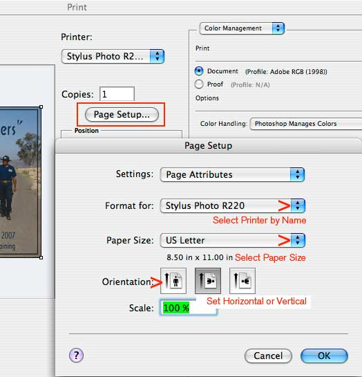 PHOTOSHOP CS3 PS10 EPSON PRINTING Tutorial Instructions No Color